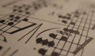Banner sheet music close