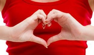 Banner heart hand